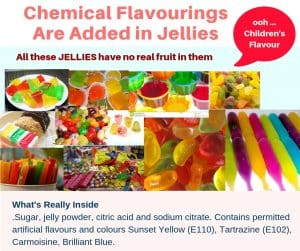 Harmful Chemical Toxins food are added in Jellies
