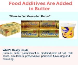 Harmful chemicals toxins food are added in butter