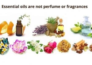 Essential oils are not perfume or fragrances