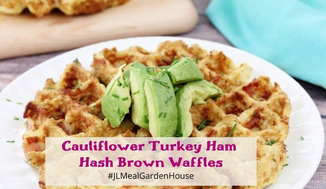 Cauliflower Turkey Ham Hash Brown Waffles